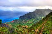 Kalalau Lookout, Kauai, HI. — Stock Photo