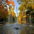 Autumn fontains at the Stadtschloss park in Fulda, Hessen, Germa - Stock Photo