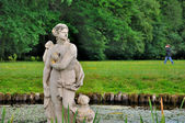 Sculpture of a naked woman in the lake of Schloss Fasanarie park — Stock Photo