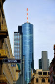 Maintower Skyscraper in Frankfurt, Hessen, Germany — Stok fotoğraf