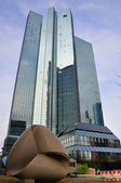 Deutsche Bank Skyscrapers in Frankurt, Hessen, Germany — Stock Photo