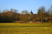 The view at the Dom (Cathedral) and a Monastery on a Frauenberg — Foto Stock