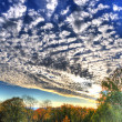 HDR mysterious colorful sky with clouds in Fulda, Hessen, German — Stock Photo #10227368