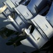 Stock Photo: Outboard Boat Engines