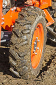 Dirty Tractor Tire — Stock Photo