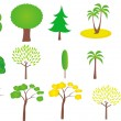 Set of trees — Stock Vector #10091781