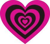 Heart Pink Black — Stock Vector