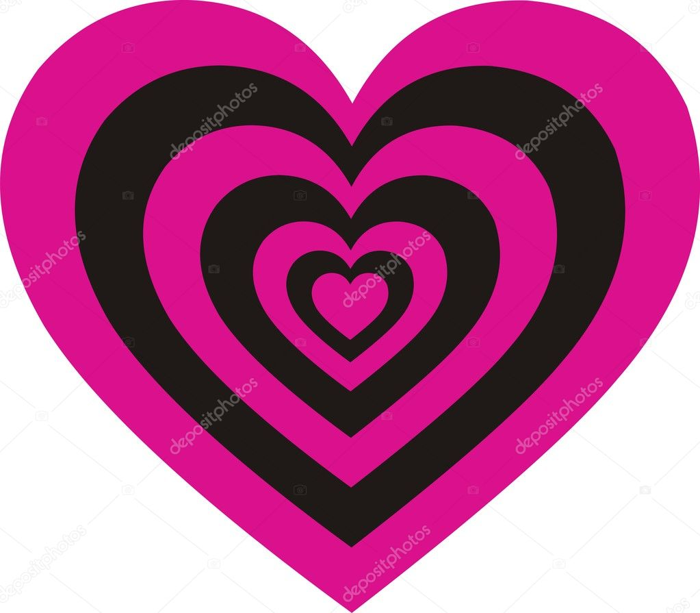 Heart Pink Black Emotion  Stock Vector #10347067