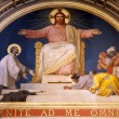 Paris - fresco of Jesus from apsis of   sanit Francis Xavier church — Stock Photo