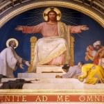 Paris - fresco of Jesus from apsis of sanit Francis Xavier church — Stock Photo #10152391