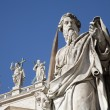 Rome - st. Paul s statue for st. Peter s basilica — Stock Photo