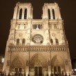 Paris - Notre-Dame cathedral in night — Stock Photo #10153478
