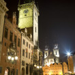 Old town square - prague - old town-hall and church of our Lady before Tyn — Stock Photo #10153573