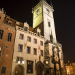 Prague - town-hall in the night — Stock Photo #10153666