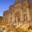 Rome - Fontana di Trevi in evening - Foto de Stock