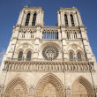 Paris - west facade of Notre-Dame cathedral — Stock Photo