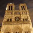 Paris - Notre-Dame cathedral in the night - Stock Photo