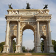 Milan - Arco della Pace - Arch of peace — Stock Photo