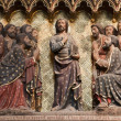 Jesus and apostles - Notre-Dame cathedral in Paris - Stock Photo