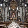 Milan - main nave of Dom — Stock Photo