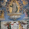 Rome - Jesus the Teacher fresco from church Santa Maria Aracoeli — Stock Photo