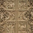 Milan - detail from main bronze gate of Duomo cathedral — Stock Photo