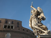 Rome - Angel on Sant Angelo Bridge — Stock Photo