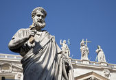 Rome - st. Peter s satatue for st. Peter s basilica — Stock Photo