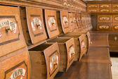 Bratislava - old phramacy by st. Elisabeth order — Stock Photo