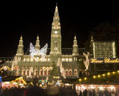 Vienna - christmas market for the town-hall — Stock Photo