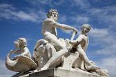 Paris statue from Tuileries garden — Stock Photo