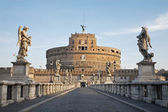 Rome - Angels castle and bridge in morning — Stock Photo