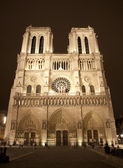 Paris - Notre-Dame cathedral in the night — Stock Photo