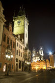 Old town square - prague - old town-hall and church of our Lady before Tyn — Stock Photo