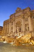 Rome - Fontana di Trevi in evening — Stock Photo