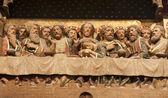 última super de cristo - catedral de notre-dame em paris — Foto Stock