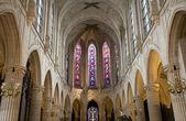 Interior de la iglesia gótica de París-saint-germain-l ' Auxerrois iglesia — Foto de Stock