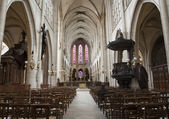 Paris - interior of gothic church -Saint-Germain-l'Auxerrois — Foto de Stock