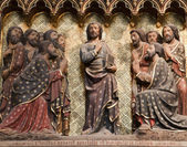Jesus and apostles - Notre-Dame cathedral in Paris — Stock Photo