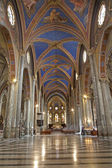Rome - nave of Santa Maria sopra Minerva church — Stock Photo