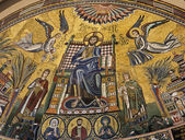 Milan - stone mosaic from main apsias of San Ambrogio - Ambrosius church — Stock Photo