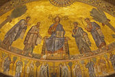 Rome - mosaic of Christ Pantokrator from apse of Saint Paul s basilica - St. Paolo fuori le mura basilica — Stock Photo