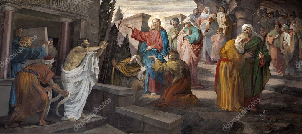 Milan - resurrection of Lazarus from San Giorgio church — Stock Photo #10153291