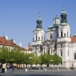 Prague - st. Nicholas baroque church — Stock Photo