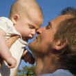 Love of baby and father — Stock Photo