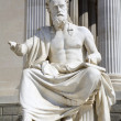 Vienna - philosopher statue for the Parliament - Xenophanes — Stock Photo #10219627
