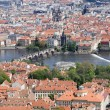 Stock Photo: Prague - outlook from Petrin to Charles bridge