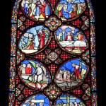 ������, ������: Paris windowpane from Saint Denis gothic church