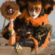 Venice - orange mask from carnival — Stock Photo