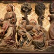 Stock Photo: Paris - reliefs from Jesus life - Notre-Dame cathedral - Christ in Gestemany garden